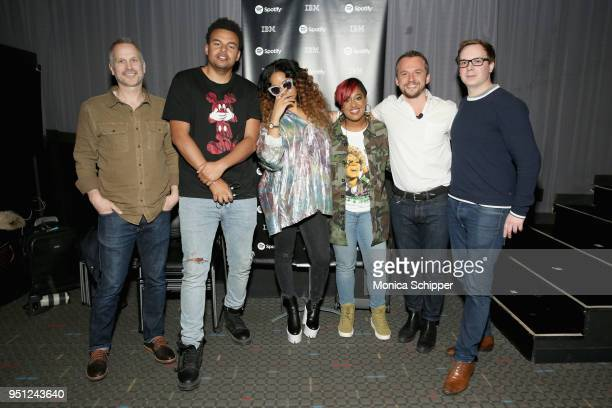 Tim Ganss Alex da Kid HER Rapsody Sebastian Tomich and Joshua Carr attend the 'Future of Film' during the 2018 Tribeca Film Festival at Spring...