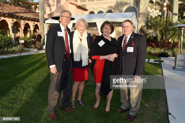 Tim Gaskill Tana Gaskill Virginia Spencer and Perry Spencer attend President Trump's one year anniversary with over 800 guests at the winter White...