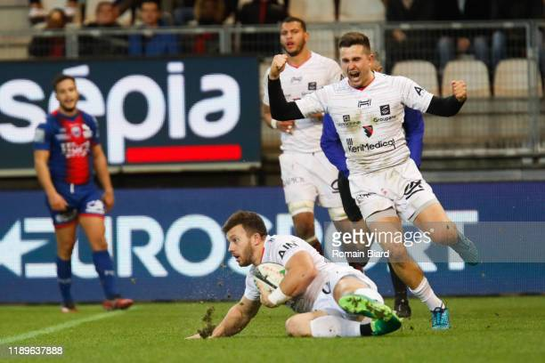 Tim GIRESSE of Oyonnax during the Pro D2 match between Grenoble and Oyonnax at Stade des Alpes on December 19, 2019 in Grenoble, France.