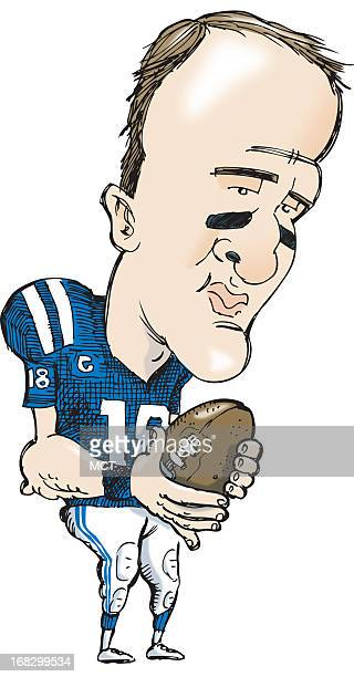 Tim Goheen color caricature of Indianapolis Colts quarterback Peyton Manning