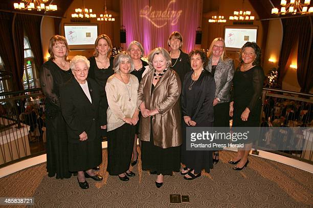Tim Greenway/Staff photographer Back row left to right honorees Carla Lafayette Susan Conley Marcia McKeague Meredith Strang Burgess Bonnie Holding...