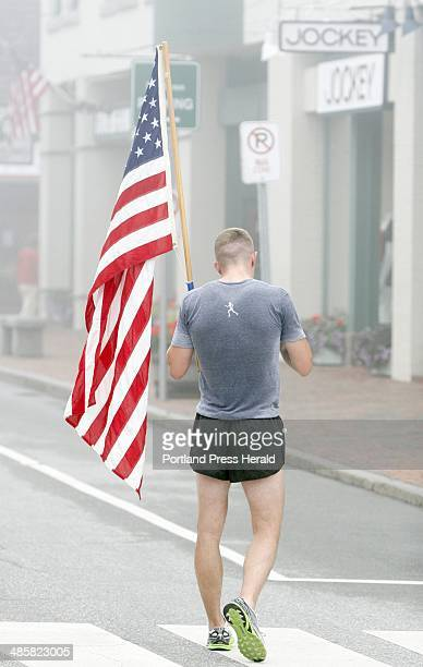 Tim Greenway/Staff photographer David Bates 1st Lt in the US Marine Corps from Tenants Harbor and stationed in Camp Pendleton cools off on Main...