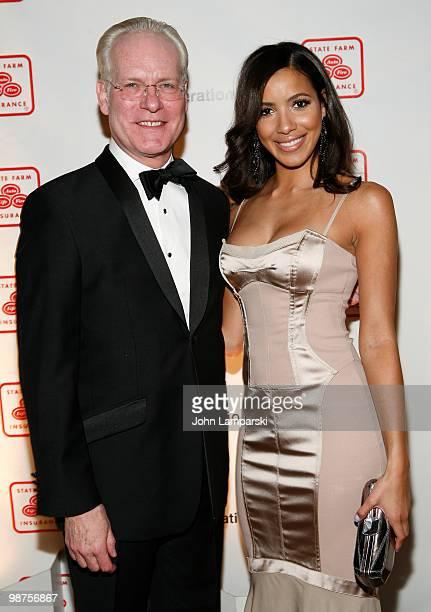 Tim Gunn and Julissa Bermudez attend the 20th Anniversary of The Hispanic Federation Gala at the Waldorf Astoria Grand Ballroom on April 29 2010 in...