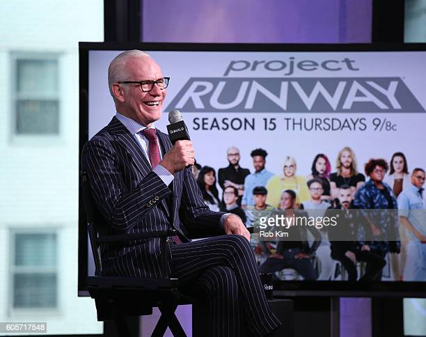 Tim Gunn discusses the fifteenth season of 'Project Runway' at the BUILD Series at AOL HQ on September 14 2016 in New York City