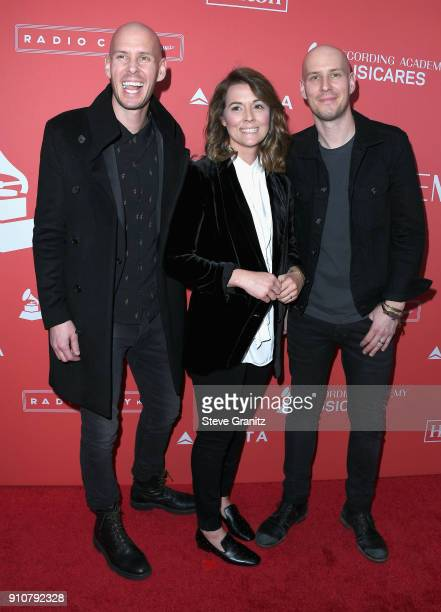 Tim Hanseroth Brandi Carlile and Phil Hanseroth attends MusiCares Person of the Year honoring Fleetwood Mac at Radio City Music Hall on January 26...