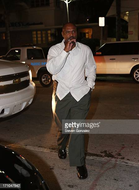 Tim Hardaway is sighted at Prime 112 Steakhouse on June 20 2013 in Miami Beach Florida