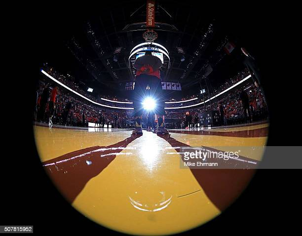 Tim Hardaway Jr #10 of the Atlanta Hawks looks on during a game against the Miami Heat at American Airlines Arena on January 31 2016 in Miami Florida...