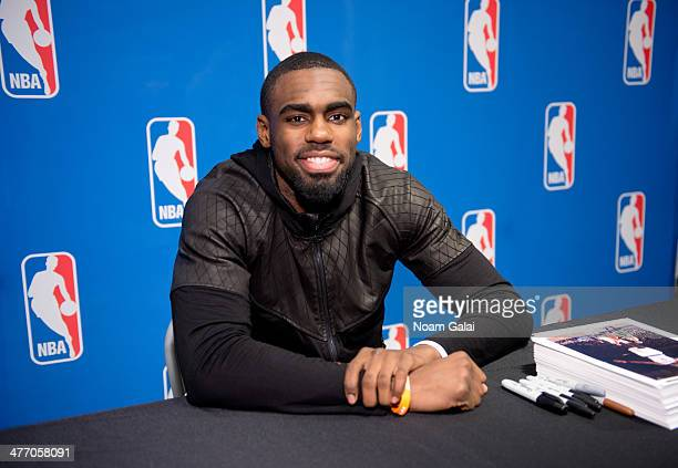 Tim Hardaway Jr attends Forever 21 X NBA Collection launch event at Forever 21 Times Square Flagship Store on March 6 2014 in New York City
