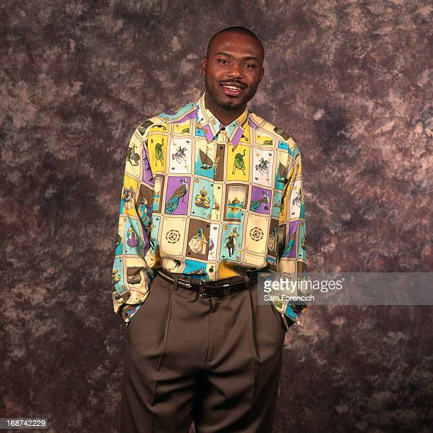 Tim Hardaway of the Golden State Warriors poses for a portrait circa 1996 at the OaklandAlameda County Coliseum Arena in Oakland California NOTE TO...