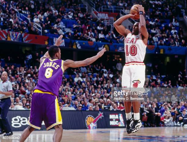 Tim Hardaway of the Miami Heat shoots during the 1997 AllStar Game on February 9 1997 at Gund Arena in Cleveland Ohio NOTE TO USER User expressly...