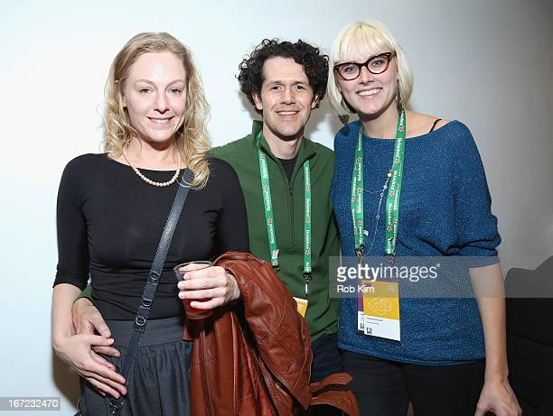 Tim Harms poses with guests at the Producers Reception during the 2013 Tribeca Film Festival April 22 2013 in New York City