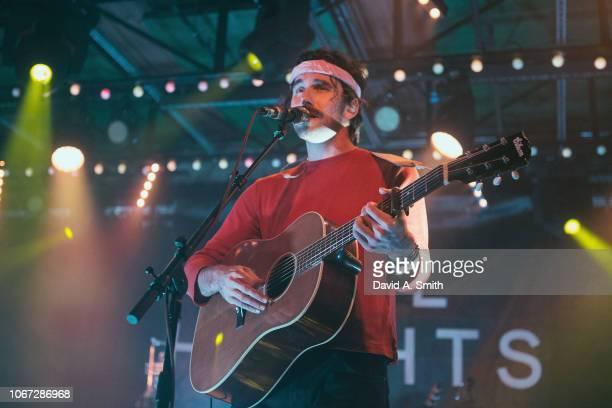 Tim Harrington of Tall Heights performs at Saturn Birmingham on November 13 2018 in Birmingham Alabama