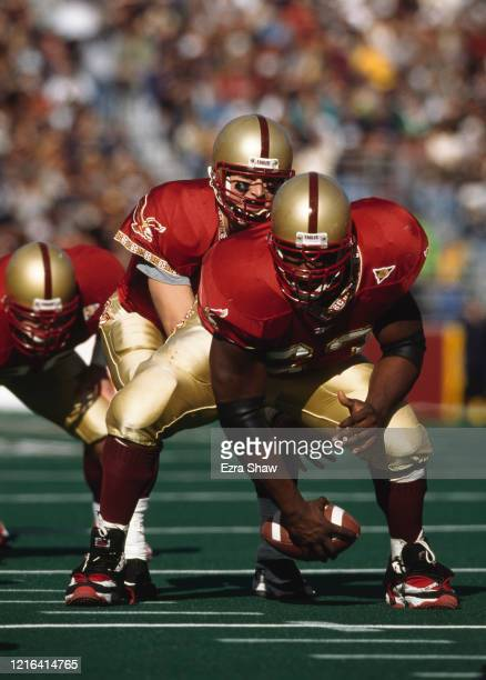 Tim Hasselbeck Quarterback for the Boston College Eagles calls the play at the snap during the NCAA Independent Conference college football game...