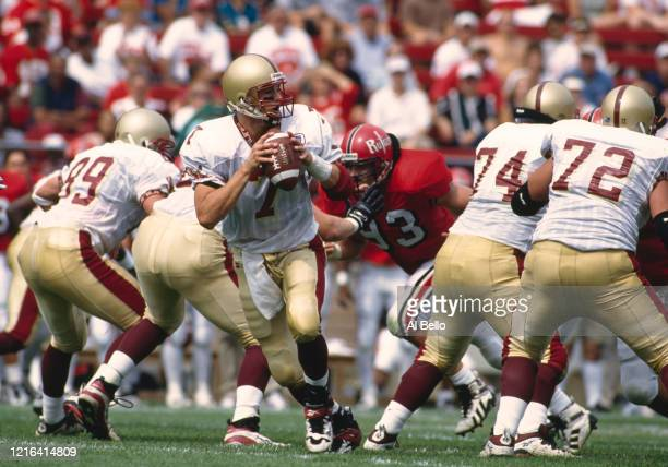 Tim Hasselbeck, Quarterback for the Boston College Eagles during the NCAA Big East Conference college football game against the Rutgers University...