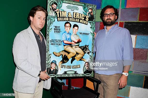 Tim Heidecker and Eric Wareheim attend 'Tim and Eric's Billion Dollar Movie' bluray disc and DVD release party at Amoeba Music on May 8 2012 in...