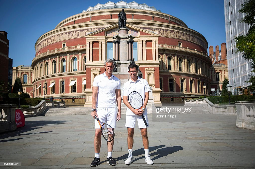 Tim Henman And Mark Foster Launch Champions Tennis at the Royal Albert Hall In Partnership with SportsAid