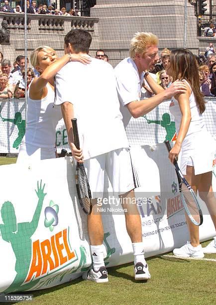 Tim Henman Laila Rouass Boris Becker and Zoe Lucker