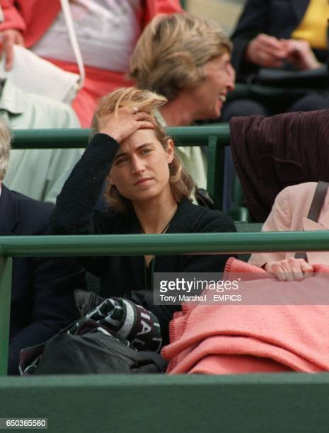 Tim Henman's girlfriend Lucy Heald shows her frustration