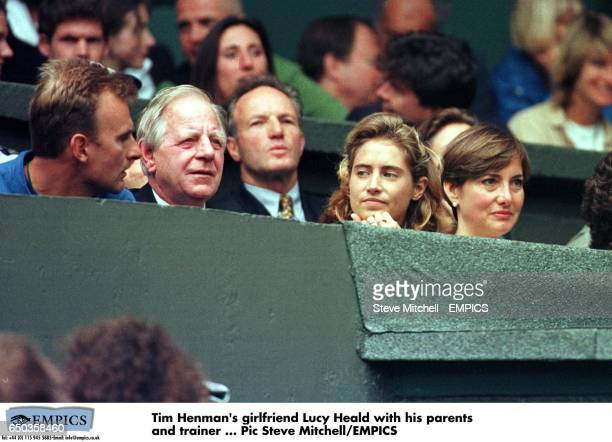 Tim Henman's girlfriend Lucy Heald with his parents and trainer