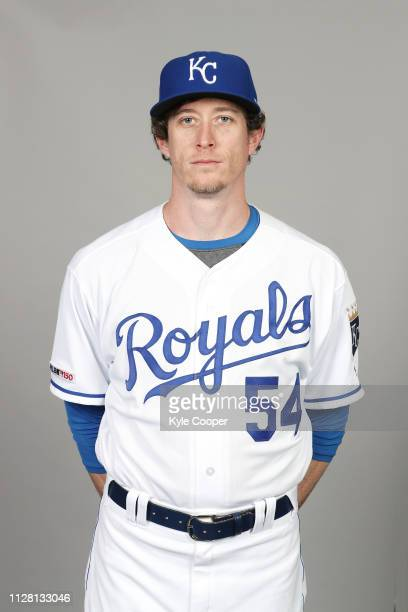 Tim Hill of the Kansas City Royals poses during Photo Day on Thursday February 21 2019 at Surprise Stadium in Surprise Arizona