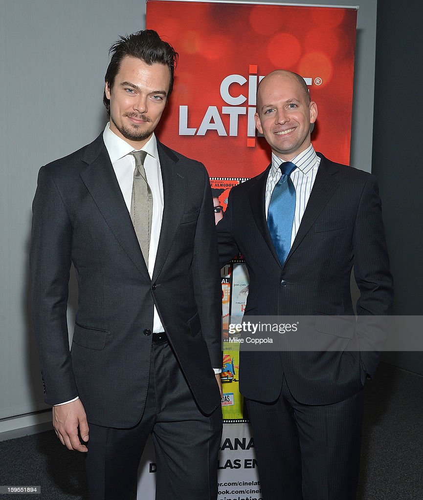 Tim Hobbs (L) and Ori Dov Gratch attend 3rd Annual Cinema Tropical Awards at The New York Times Headquarters on January 15, 2013 in New York City.