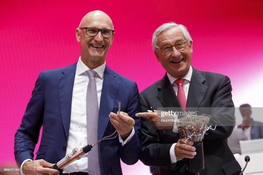 Deutsche Telekom AG Chief Executive Officer Tim Hoettges Holds Shareholders' Meeting