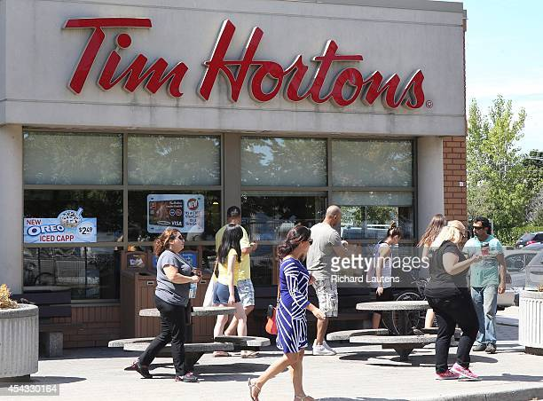 Tim Horton's and Burger King are set to merge Photos of several outlets as well as their products for file stories August 27 2014