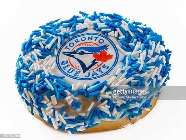 Tim Horton's launch Toronto Blue Jays baseball team themed doughnut or donut Blue Jays started season with winning streak fans think t's year to play...