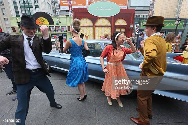 Tim Hortons turns the clock back at Toronto's YongeDundas Square transforming the bustling corner into a scene from the 1960s with actors dancing to...