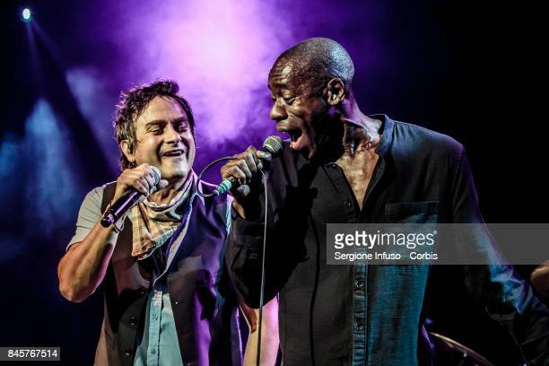 Tim Howar and Andrew Roachford of English pop/rock supergroup Mike + The Mechanics perform on stage at Alcatraz on September 11, 2017 in Milan, Italy.