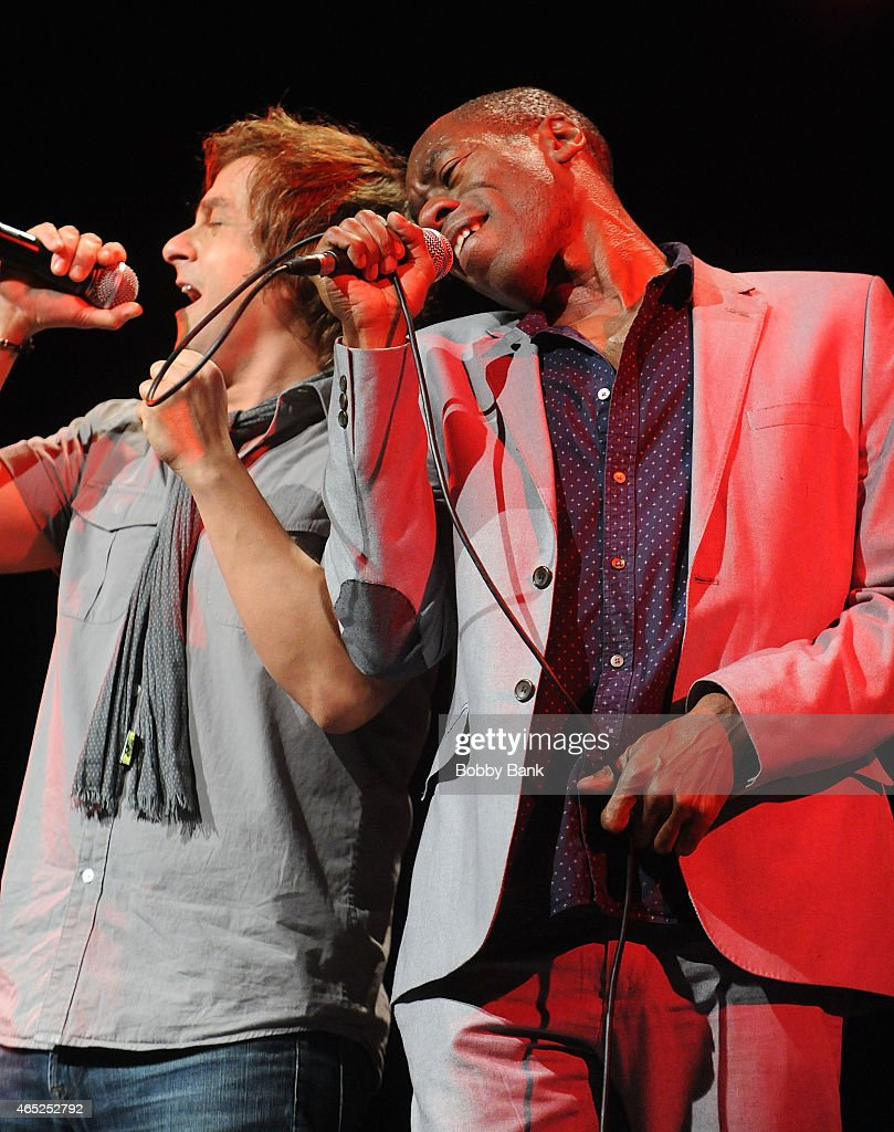 Tim Howar and Andrew Roachford of Mike & The Mechanics performs at Best Buy Theater on March 4, 2015 in New York City.