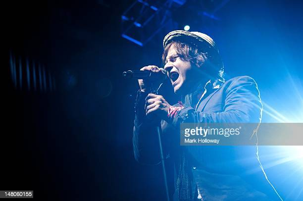 Tim Howar of Mike And The Mechanics performs on stage at O2 Academy on July 2, 2012 in Bournemouth, England.