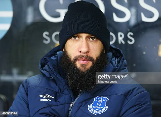 Tim Howard of Everton sits on the bench during the Barclays Premier League match between Hull City and Everton at KC Stadium on January 1 2015 in...