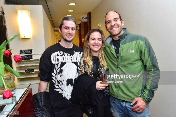 Tim Hoyt Calli Moore and Paul Efstathiou attend Spring Break Art Fair 2017 Vernissage at 4 Times Square on February 28 2017 in New York City