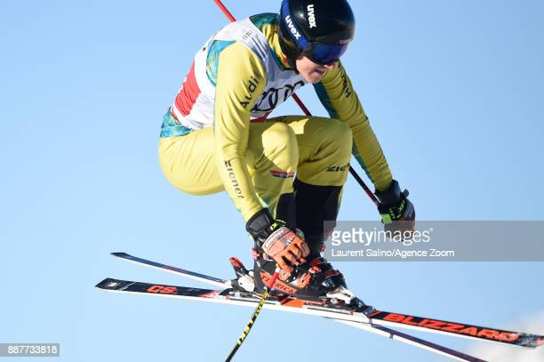 Tim Hronek during qualifications during the FIS Freestyle Ski World Cup, Men's and Women's Ski Cross on December 7, 2017 in Val Thorens, France.