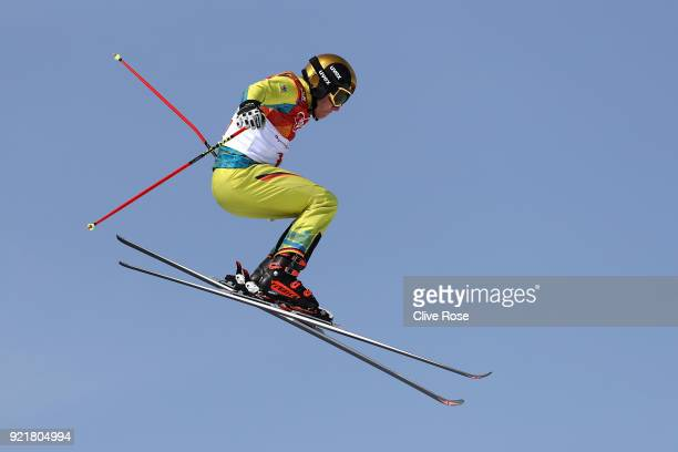 Tim Hronek of Germany competes in the Freestyle Skiing Men's Ski Cross Seeding on day 12 of the PyeongChang 2018 Winter Olympic Games at Phoenix Snow...