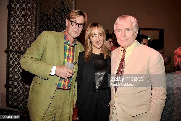 Tim Hunt, Christina Tessitini and Glenn O'Brien attend INTERVIEW MAGAZINE Party to Celebrate the ART ISSUE at Miami Art Museum on December 4, 2008 in...