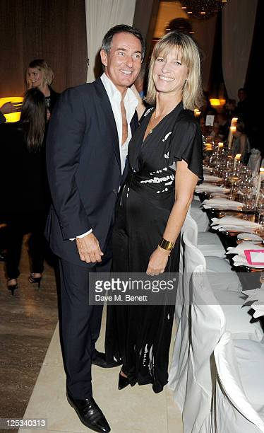 Tim Jefferies and Nicola Formby attend a private dinner hosted by Wolfgang Puck his wife Gelila Puck and Charles Finch to celebrate the launch of CUT...