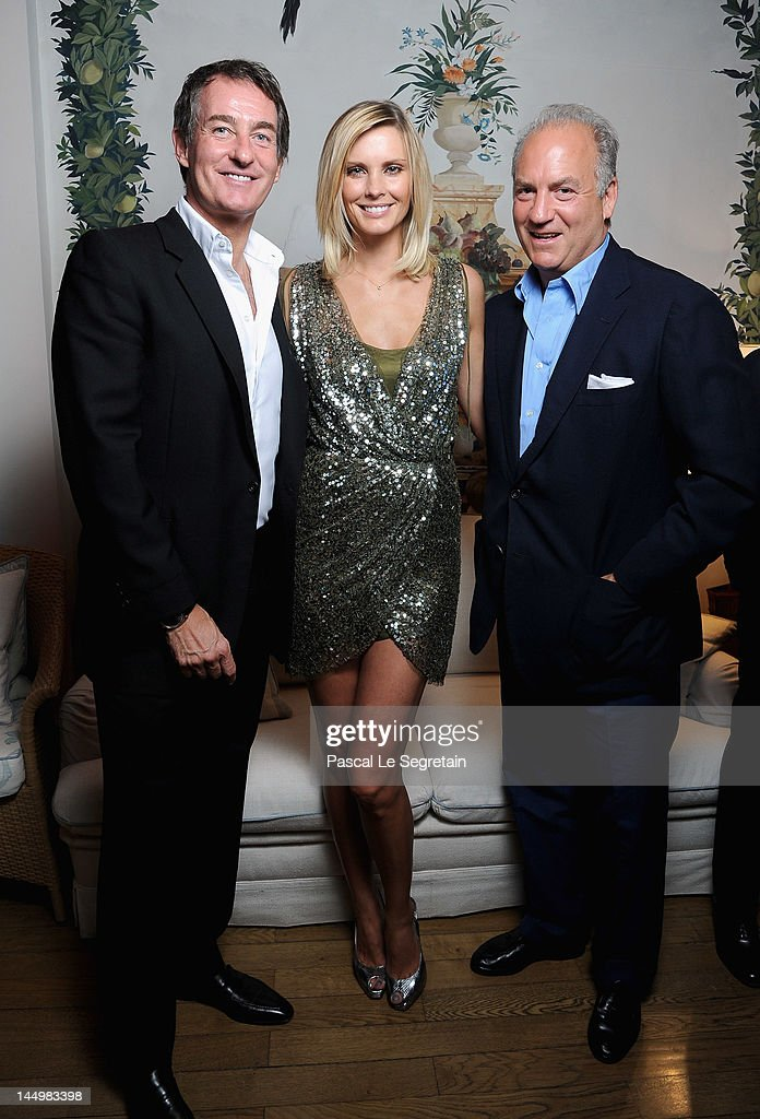 Tim Jefferies, Hamiltons Gallery owner, Nicola Formby and Charles Finch attend the exclusive Filmmakers Dinner during the Cannes International Film Festival hosted by Swiss watch manufacturer IWC Schaffhausen in partnership with Finch's Quarterly Review at the famous Hotel du Cap-Eden-Roc on May 21, 2012 in Cap d'Antibes, France.