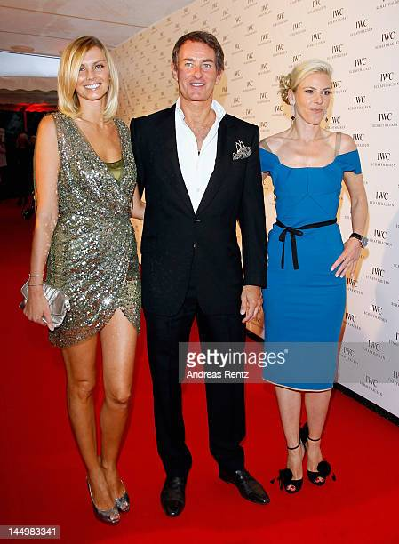 Tim Jefferies Hamiltons Gallery owner Nicola Formby and Karoline Huber Director of Marketing Communications at IWC arrive at the exclusive Filmmakers...