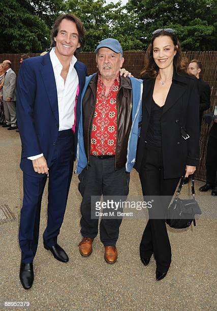Tim Jeffries with David Bailey and wife Catherine attend the Serpentine Gallery Summer Party at The Serpentine Gallery on July 9 2009 in London...