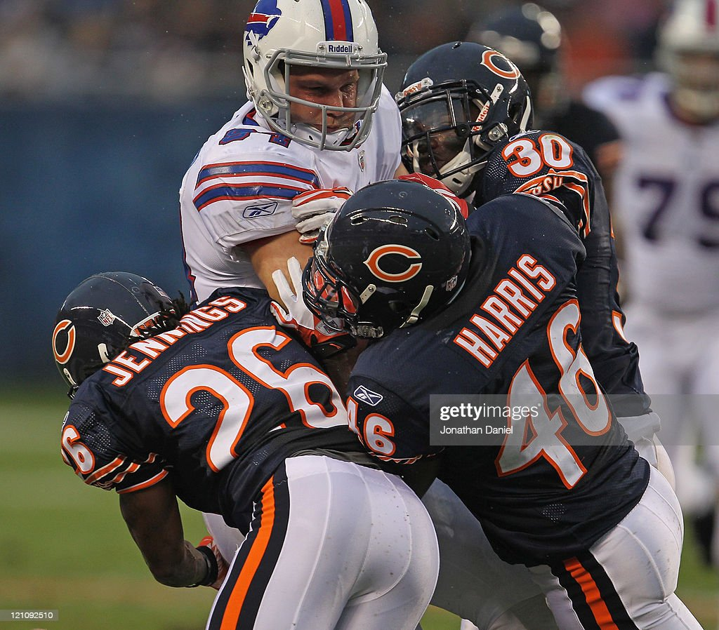Tim Jennings Chris Harris And D J Moore Of The Chicago Bears Bring