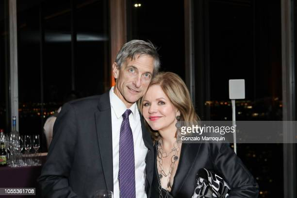 Tim Jessell and RenŽe Fleming during the Sing For Hope Gala 2018 at Bay Room on October 29 2018 in New York City
