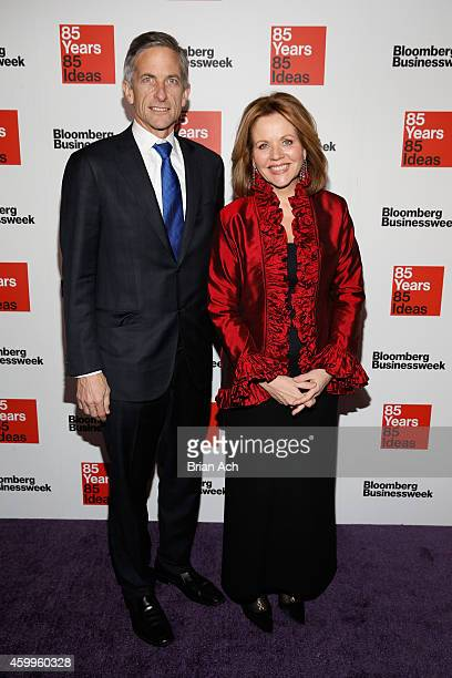 Tim Jessell and Renee Fleming attend Bloomberg Businessweek's 85th anniversary celebration at the American Museum of Natural History on December 4...