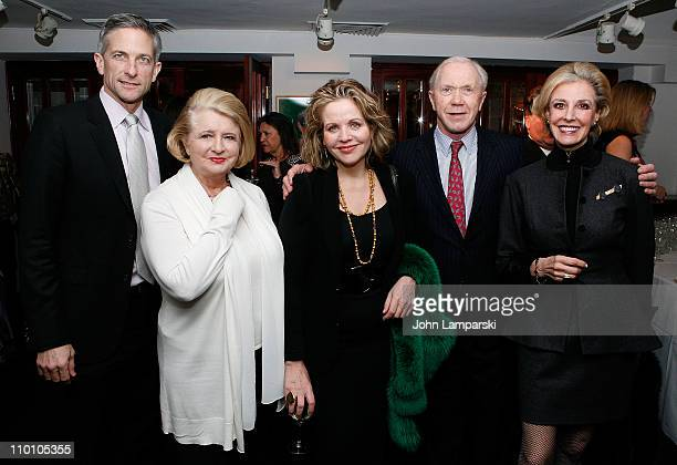Tim Jessell Shirley Lord Rosenthal Renee Fleming Peter Brown and Karen Burke attend the 27th annual Evening of Readings PreGala kickoff at Michael's...