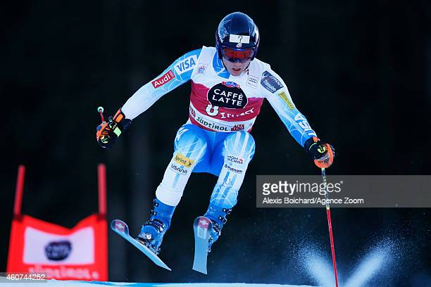 Tim Jitloff of the USA competes during the Audi FIS Alpine Ski World Cup Men's Giant Slalom on December 21 2014 in Alta Badia Italy