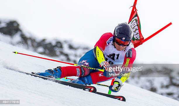 Tim Jitloff of The USA during the Audi FIS Ski World Cup men's giant slalom race on the Rettenbach Glacier on October 25 2015 in Soelden Austria