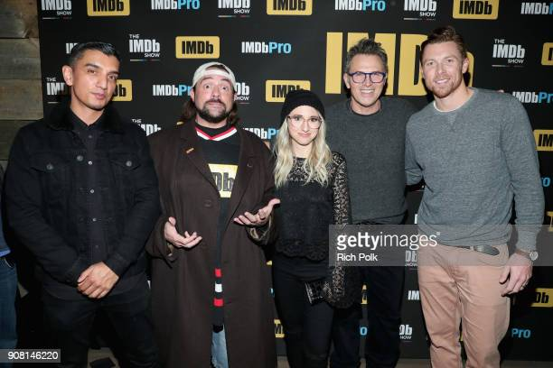 Tim Kash Kevin Smith Kerri Doherty Tim Daly and Sam Daly attend The IMDb Show Launch Party at The Sundance Film Festival on January 20 2018 in Park...