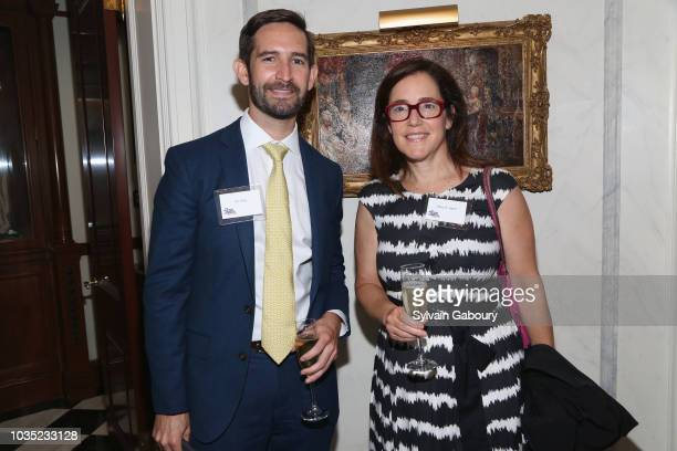 Tim Kelly and Hilary R Hatch attend Jean Shafiroff Hosts Cocktails For New York Women's Foundation at Private Residence on September 17 2018 in New...