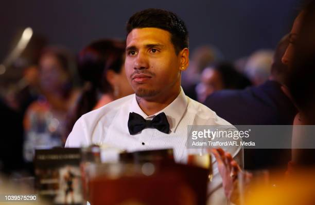 Tim Kelly of the Cats looks on during the 2018 Brownlow Medal Count at Crown Palladium on September 24 2018 in Melbourne Australia